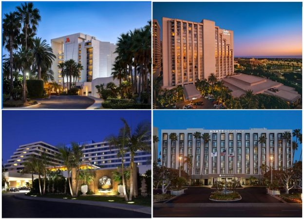 Images of Four Newport Beach Resort Hotels subject to Determination